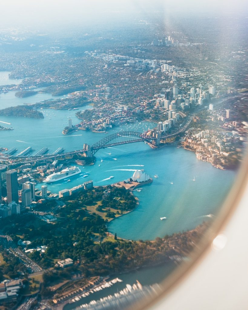 Австралия от самолет