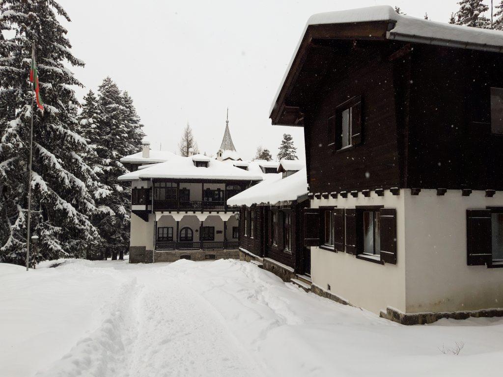 Дворец Царска Бистрица през зимата