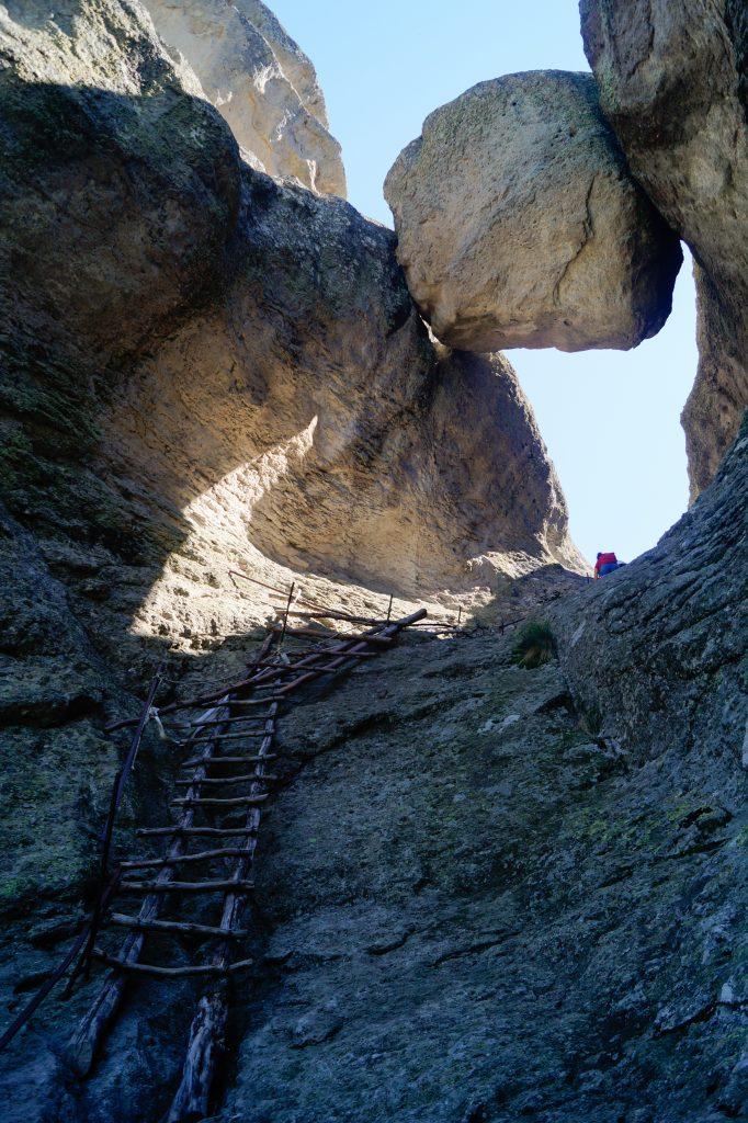 Стълбата към скалното плато