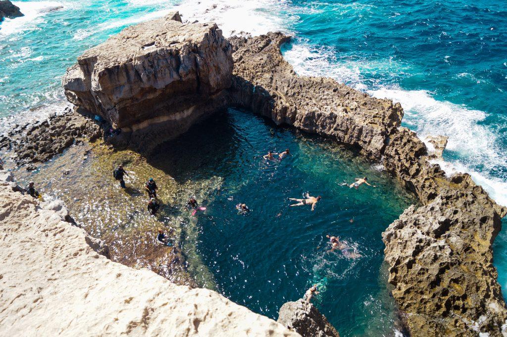Синята дупка на остров Гозо, Малта